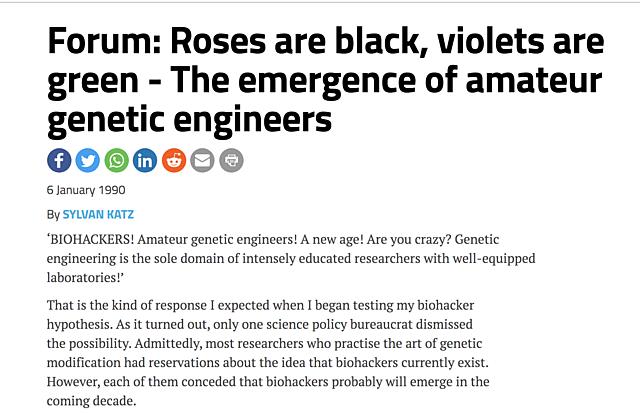 """Biohacker"" Term Emerges"