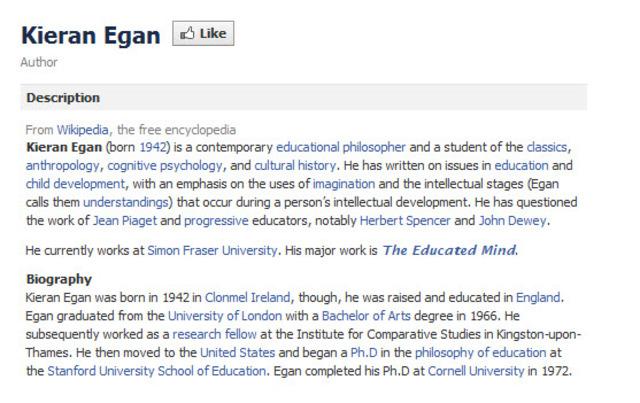 Egan Facebook Page!