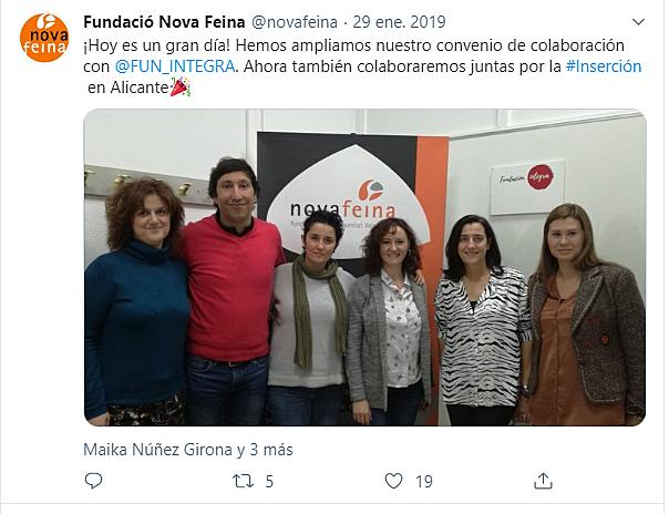 Aunamos trabajo!! Firmamos convenio con Fundación Integra