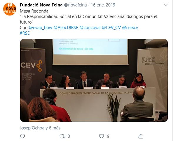"""Jornada EVAP.CV """" La Responsabilidad Social en la Comunidad Valencia. Dialogos de Futuro"""""""