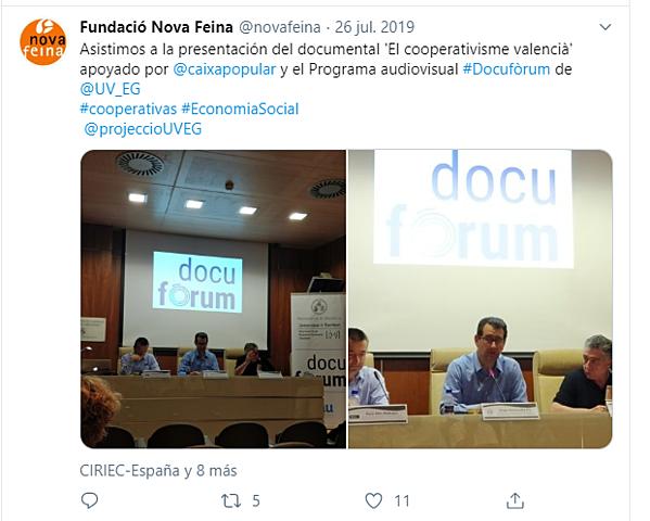 """Jornada Presentación """" El Cooperativismo Valenciano"""""""