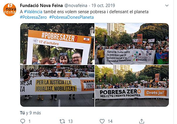 Manifestación Pobresa ZERO