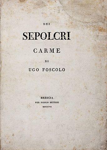 """Pubblicazione """"Dei Sepolcri"""""""