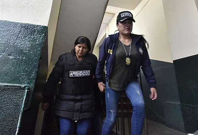 Elba Terán es enviada con detención preventiva a Palmasola