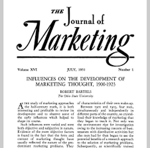 Se publica el primer artículo que considera el marketing como una ciencia