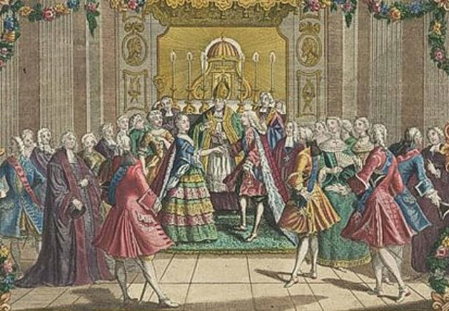 Louis XVI and Marie Antoinette are married