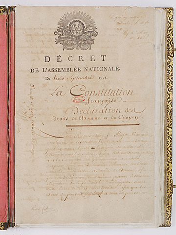 The first Constitution of France