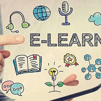 Nacimiento de la educación a distancia y el e-learning. timeline