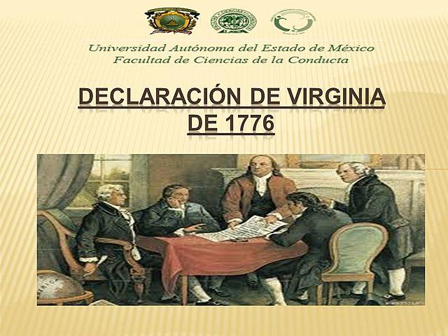 LA DECLARACION DE LOS DERECHOS DE VIRGINIA