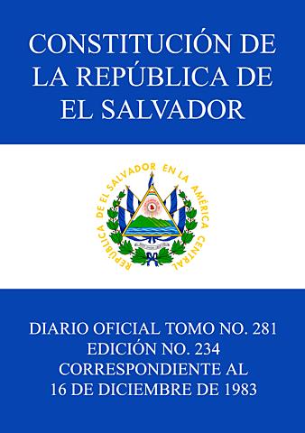 NUEVA CONSTITUCION DE EL SALVADOR