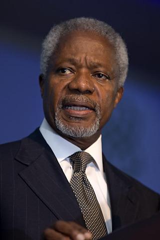 U.N. Secretary General Kofi Annan declares Iraq war illegal