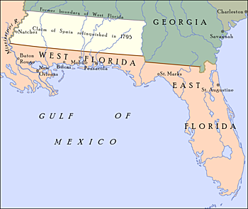 Spain closed lower Mississippi River to American Western Settlers