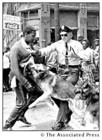 """""""Bull"""" Connor uses hoses and dogs on demonstrators in Birmingham"""