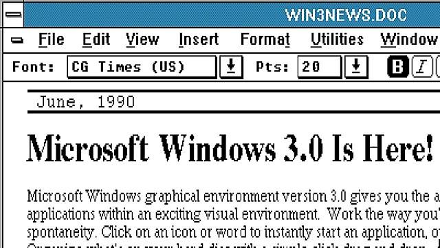 Microsoft anunció Windows 3.0,