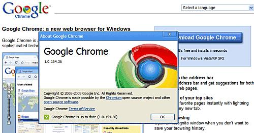 Lanzamiento de Google Chrome 2008