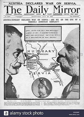 Àustria declara la guerra a Sèrbia