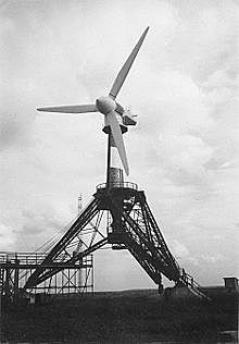 First wind energy plant in the Soviet Union.