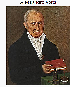 Italian physicist Alessandro Volta invented the battery