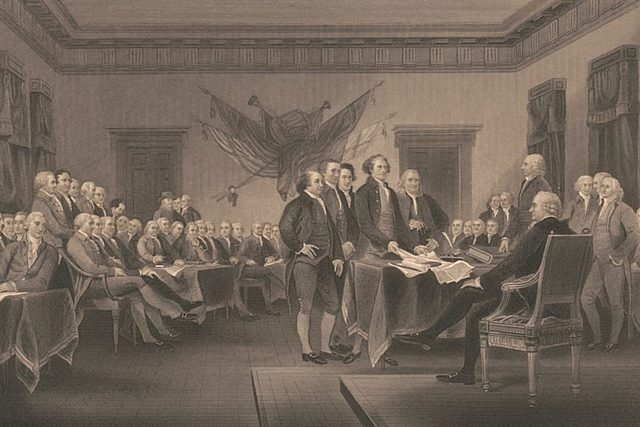 The Declaration of Independence signed