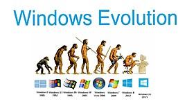evolución de windows a través de la historia timeline