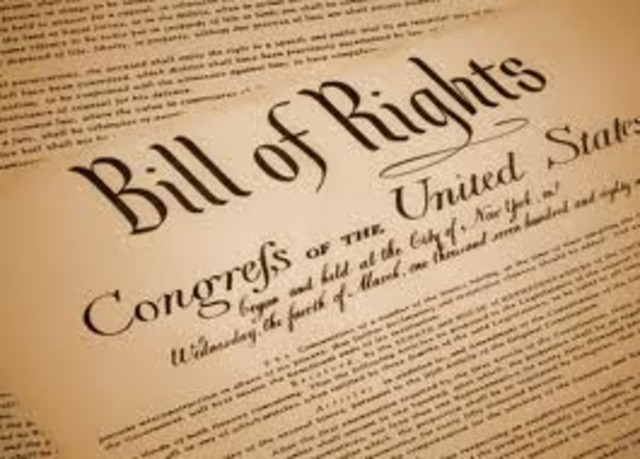 Bill of Rights went into effect.