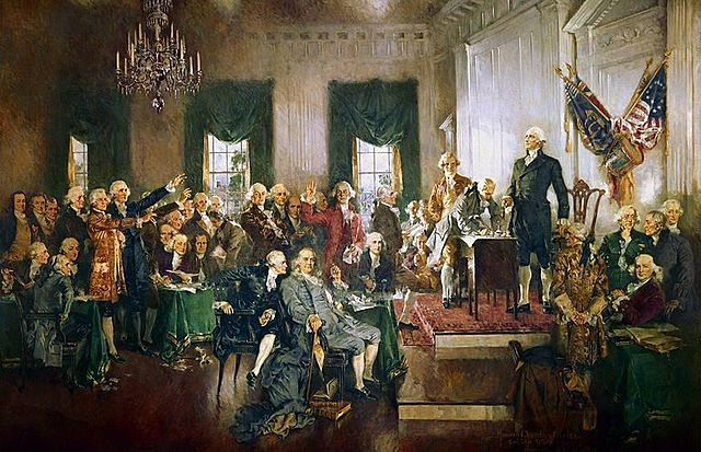 The Delegates at the Philadelphia Convection Approve the Constitution
