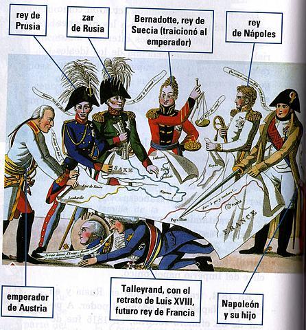 el congreso de viena esta en manos de los estados que derrotaron a napoleon