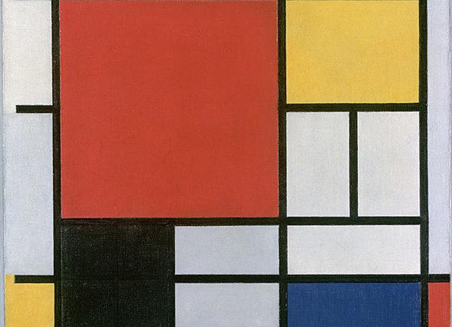 Composición rojo, amarillo, azul y negro | Mondrian