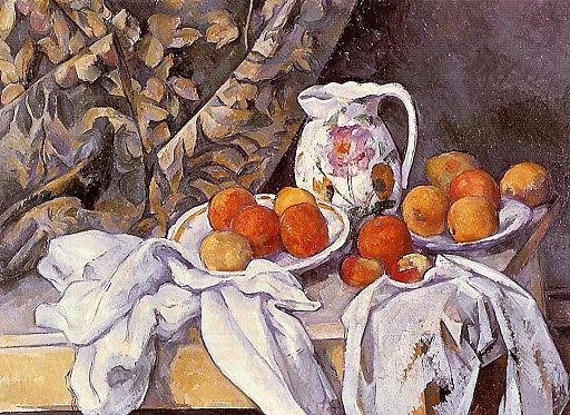 Bodegón con cortina | Cézanne