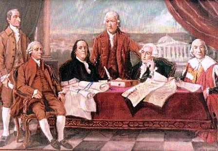 The Treaty of Paris 1783.