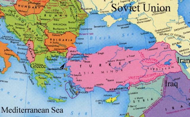 Greece & Turkey resisted Communist rebels