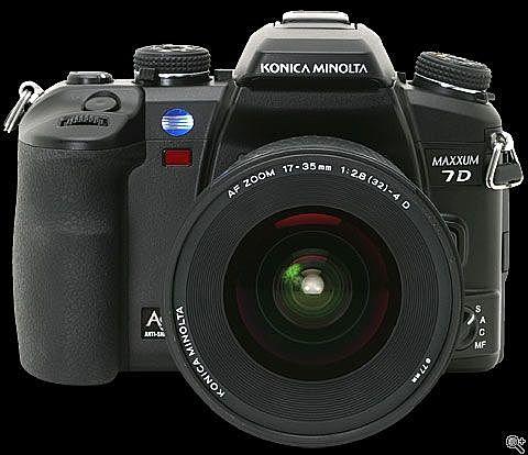 le Konica minolta maxxum 7D