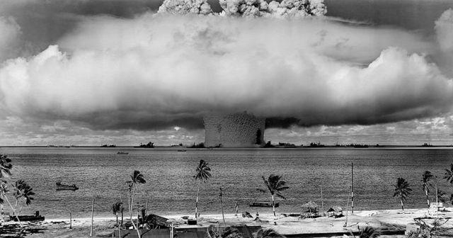 Castle Bravo: U.S. H-bomb test Bikini Island