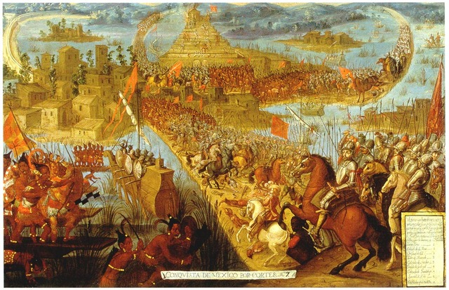 The Spanish Retreat After the Aztecs Gather Arms.