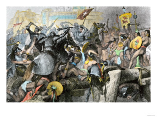 The Spanish Form a Second Attack on the Now weakened Aztecs