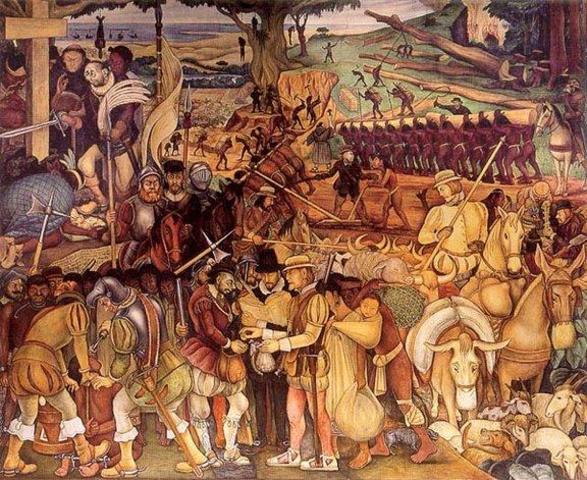 The Last Group of Aztecs Surrender