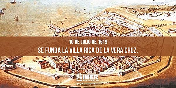 Hernán Cortés funda Villa Rica de la Vera Cruz