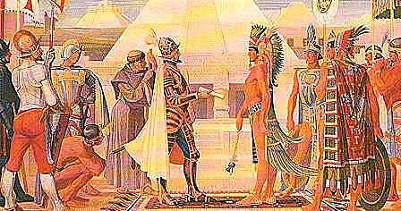 Llegan los españoles a Tenochtitlan