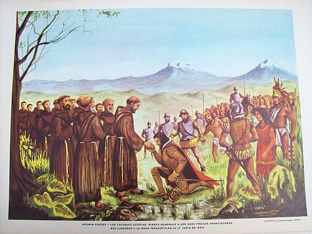 Llegan los Franciscanos a la Nueva España
