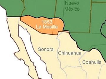 Antonio López de Santa Anna vende la Mesilla a los Estados Unidos