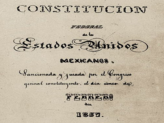 Constitución de 1857. México Vueve a ser una República Federal