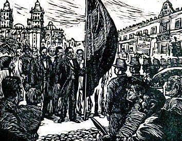 Benito Juárez entra triunfalmente a la Ciudad de México