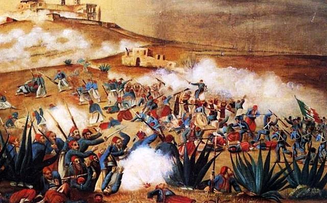La batalla de Puebla del 5 de mayo
