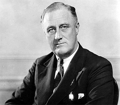Arriba al poder Franlklin D Roosevelt