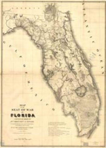 Spain gives Florida to the U.S.