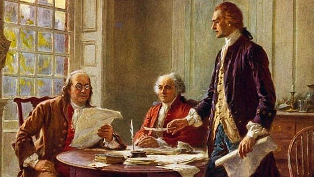 Thomas Jefferson writes the DOI