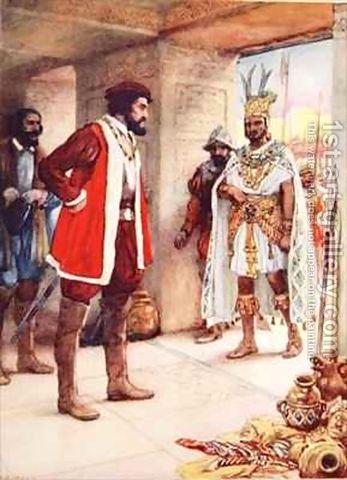 Cortes takes Moctezuma hostage