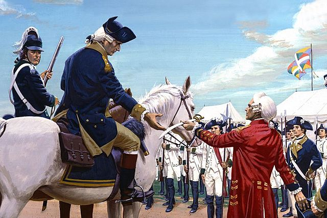 The French joining the war against the British