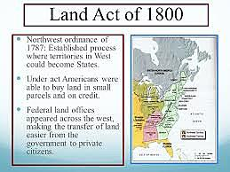 1800 - Land Act of 1800