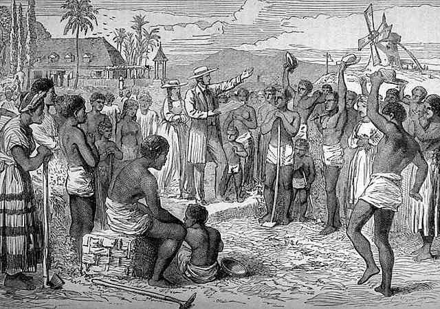The Slave trade ending